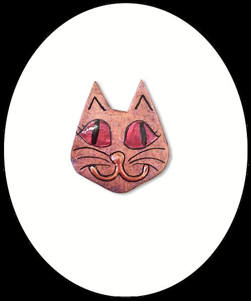Smiley Cat Face Brooch