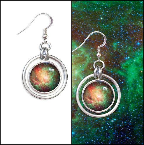 Lagoon Nebula Hoop Earrings