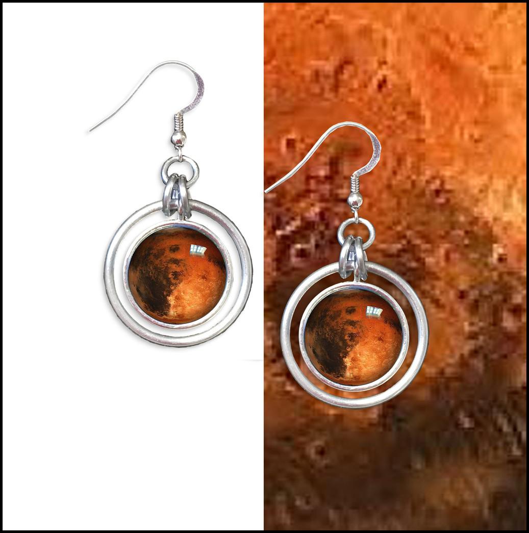 Mars Hoop Earrings