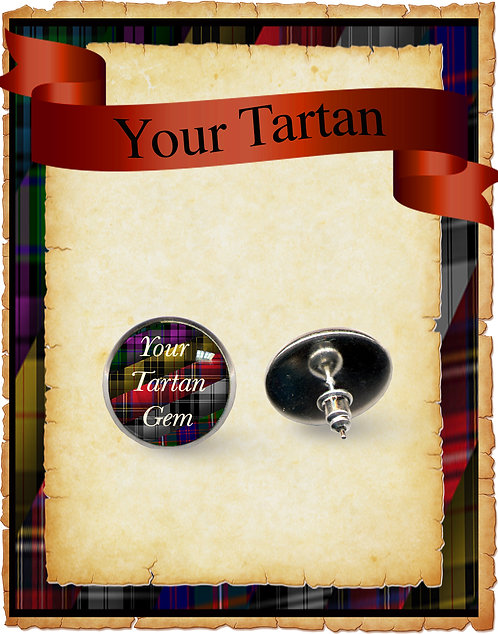 Tartan Stud & Clip earrings