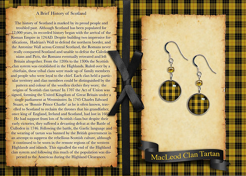 Tartan Drop Earrings