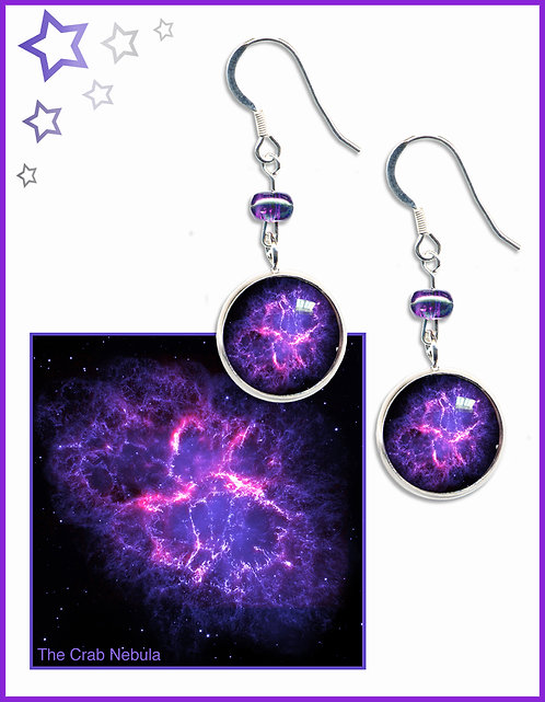 Crab Nebula Earrings