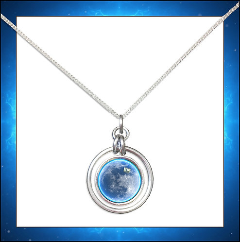 Moon Hoop Pendant and Chain
