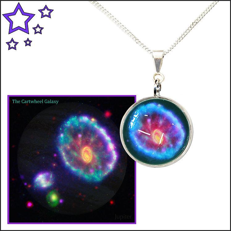 Cartwheel Galaxy Pendant