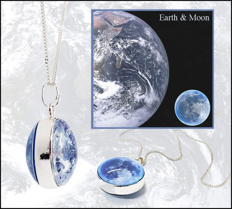 Earth & Moon Pendant