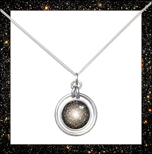Star Cluster Hoop Pendant and Chain