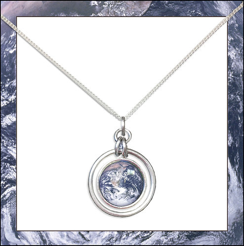 Earth Hoop Pendant and chain