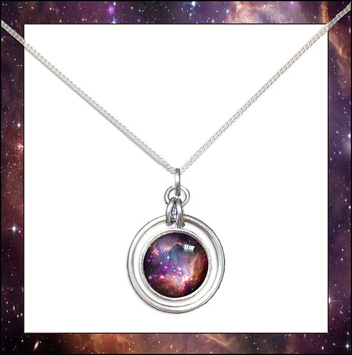 S.M.C. Galaxy Hoop Pendant and Chain