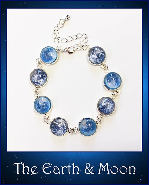 Earth & Blue Moon Bangle