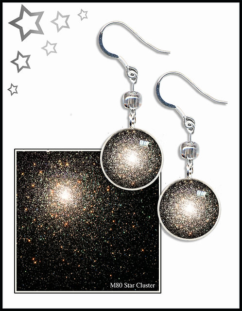 M80 Star Cluster Earrings