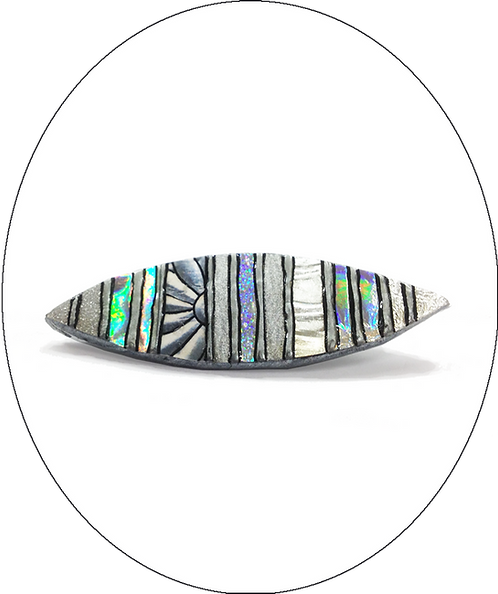 Silver Oval Brooch