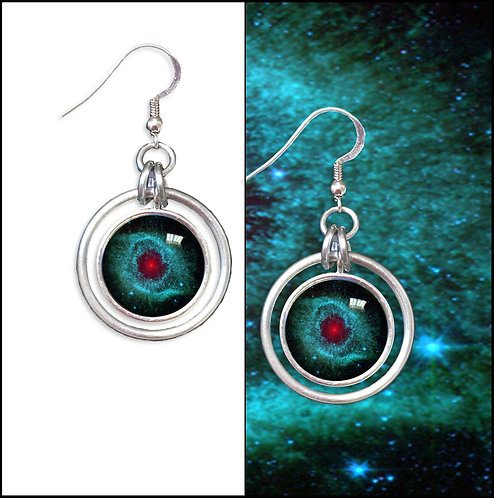 Helix Nebula Hoop Earrings