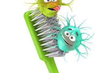 Escova de dente mal lavada pode causar infecção.