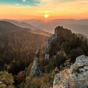Les Noirmont-Sonnenuntergang
