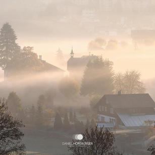 Jura im Nebel