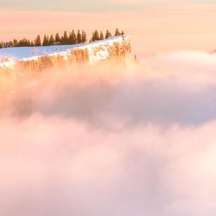 Grenchenberg  im Winter mit Nebel