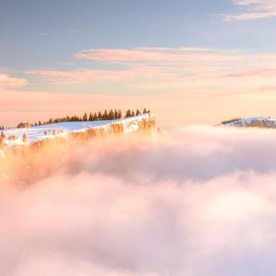 Grenchenberg im Winter mit Nebel 2