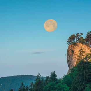 Ankenballen mit Mond