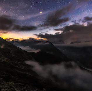Nebel in der nacht