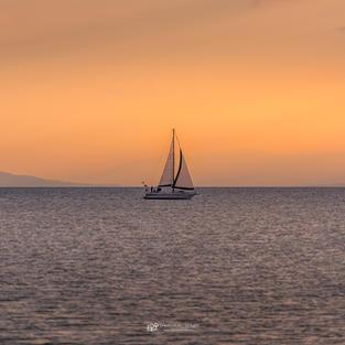 Sonne see und Boot