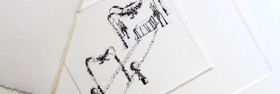 Wedding in the park - Hochzeitskarte auf Büttenpapier