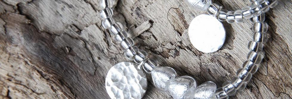 Armbänder 'charming hearts' (silber) - Mami & Tochter