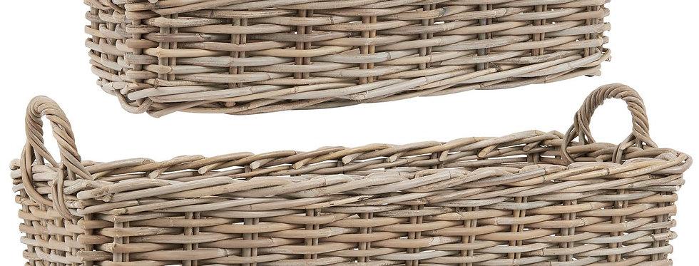 Geflochtener Korb mit Seitenhenkel (mittel)