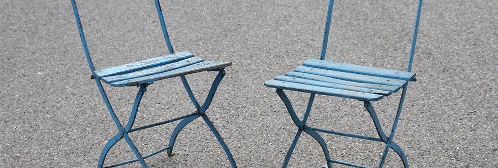 Set von 2 KB-Bistrot-Stühlen in Blau