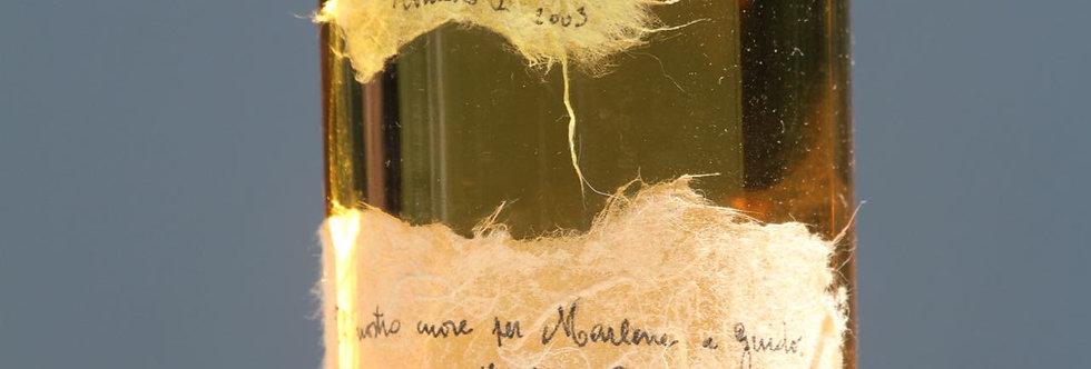 Herz auf gelbem Faserpapier - Romano Levi (2003)