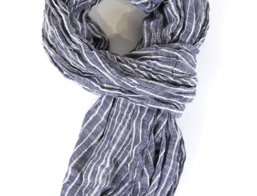 Schal - Scarf stripy dark blue