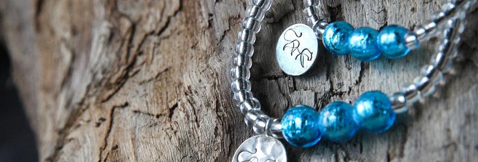 Armbänder 'elegance' (sommerblau) - Mami & Tochter