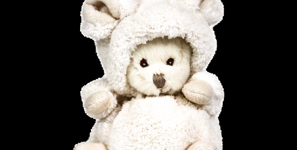 "Kuschelbär - Ziggy bear ""White mouse"""