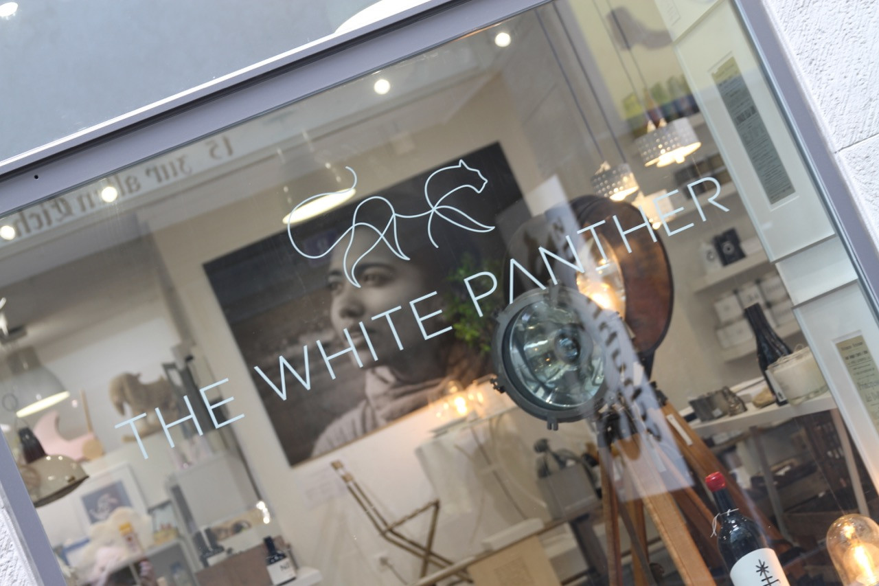 the white panther shop window