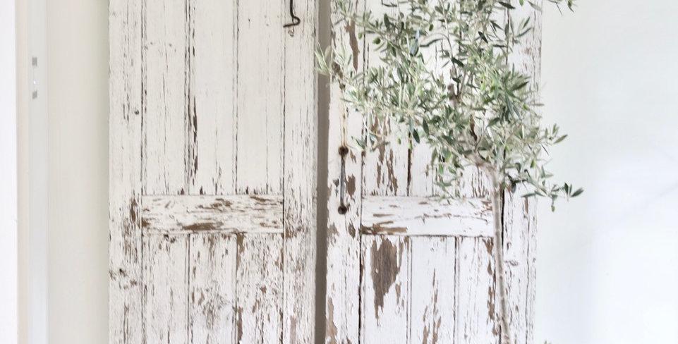 Vintage Fensterflügel aus der Normandie