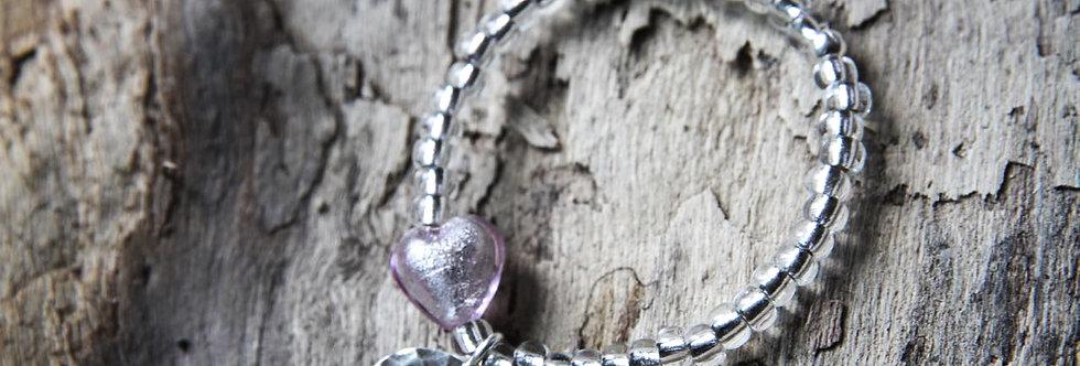 Armband 'charming hearts' (zartviolett) - Girls