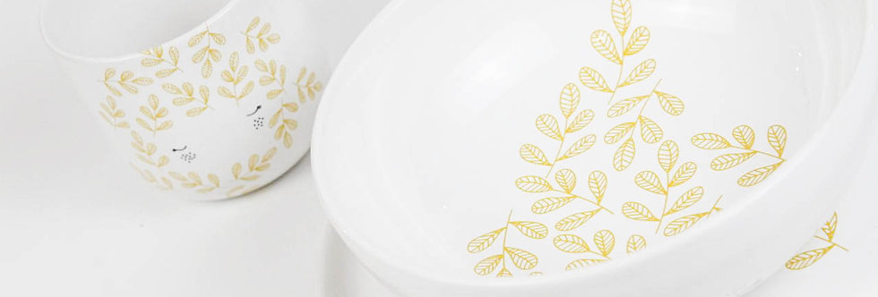 Dreamy girl - yolky yellow set (bowl, cup & plate)