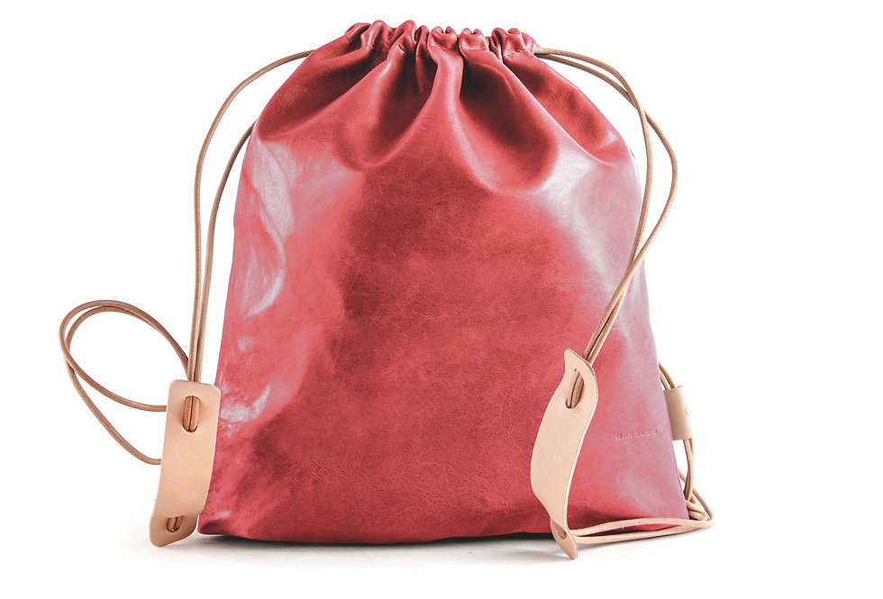 Sports Sleeve Bag (Lammleder) - Cognac