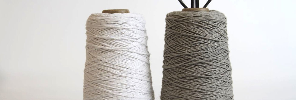 Cotton cord grey/taupe - 500m