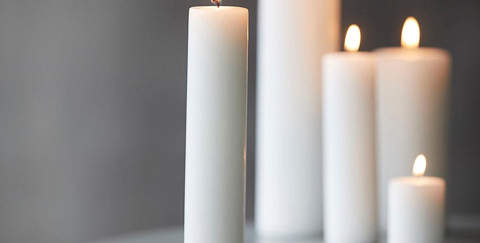 Schlichte Kerze (weiss / gross)