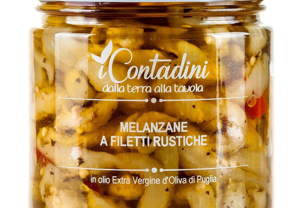 Sonnengetrocknete Auberginen - Melanzane essiccate al sole in olio d'oliva
