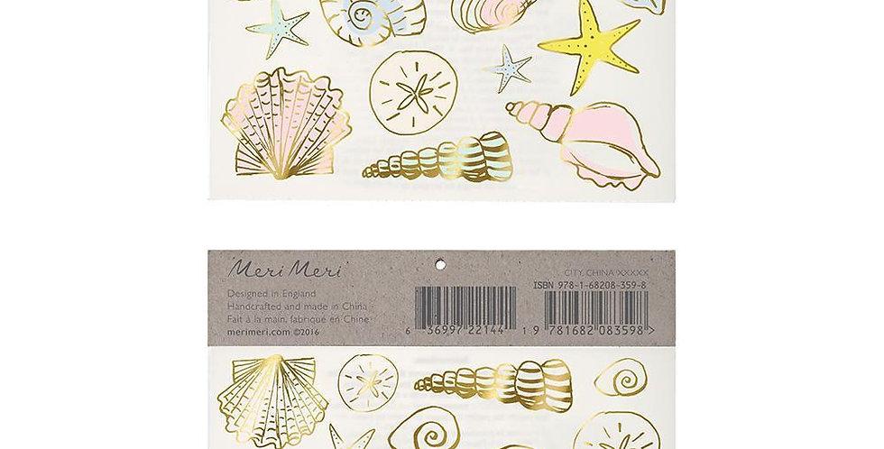 'Meeresmuscheln' Kinder-Tattoo - Meri Meri