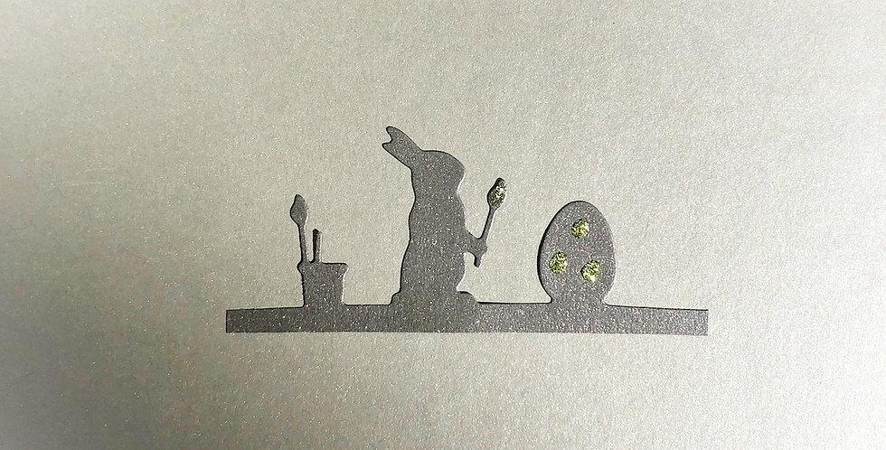 Oster-Box grün - Künstler-Osterhase