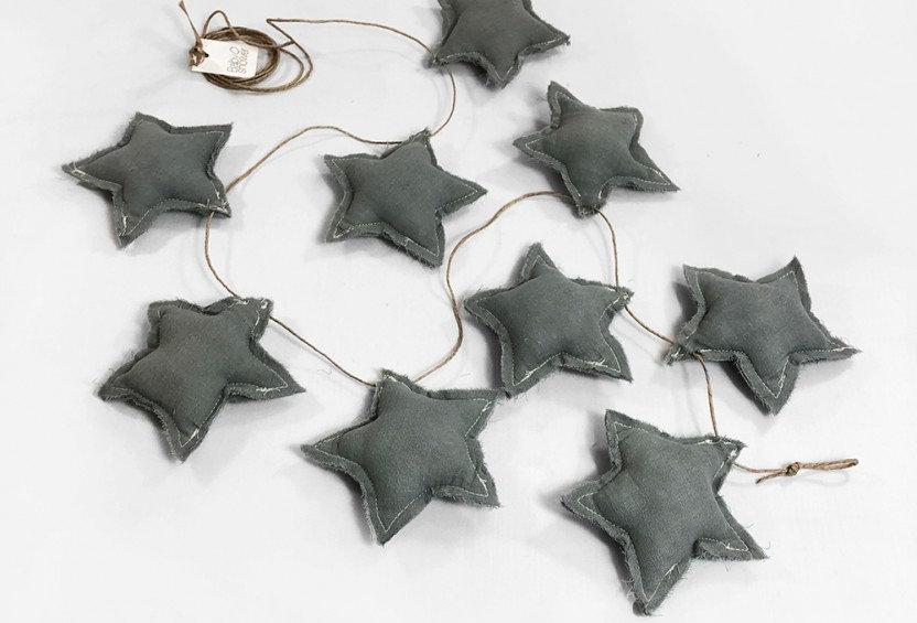 Sternen-Girlande bluegrey