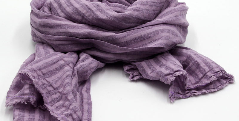 Echarpe Printemps - Schal Leinen Violet