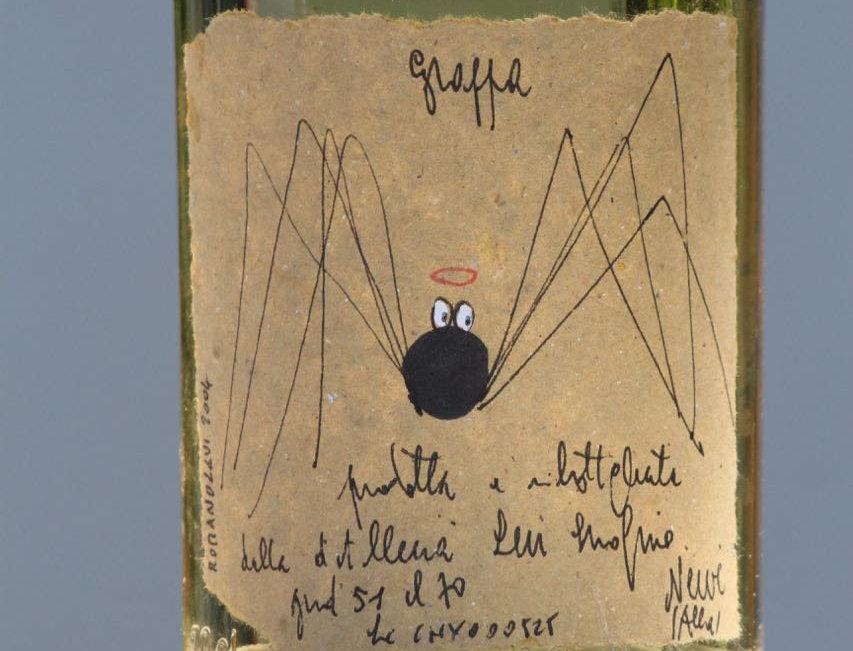 Pippo nero santo (Spinne Pippo mit Heiligenschein) - Grappa Levi (2004)