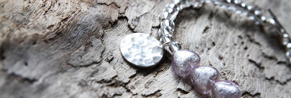 Armbänder 'charming hearts' (zartviolett) - Mami & Tochter