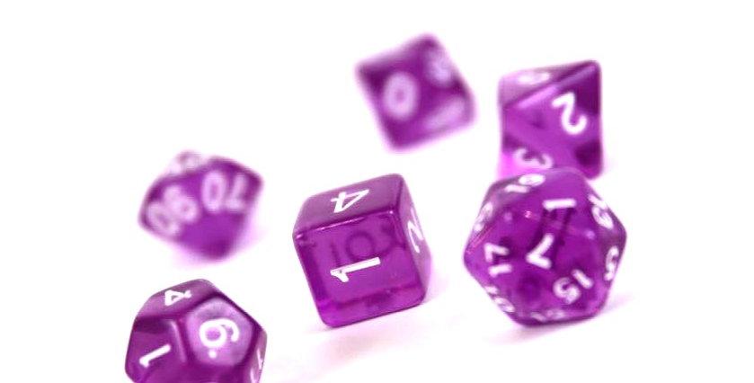 Würfel violett
