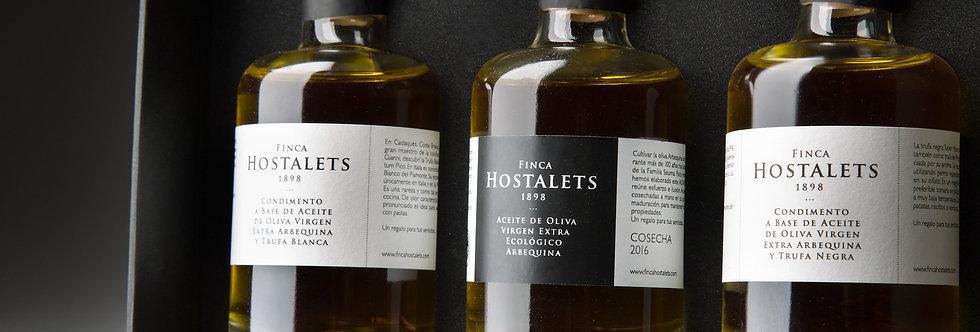Set Weiss- & Schwarz-Trüffelöl & Olivenöl - Finca Hostalets