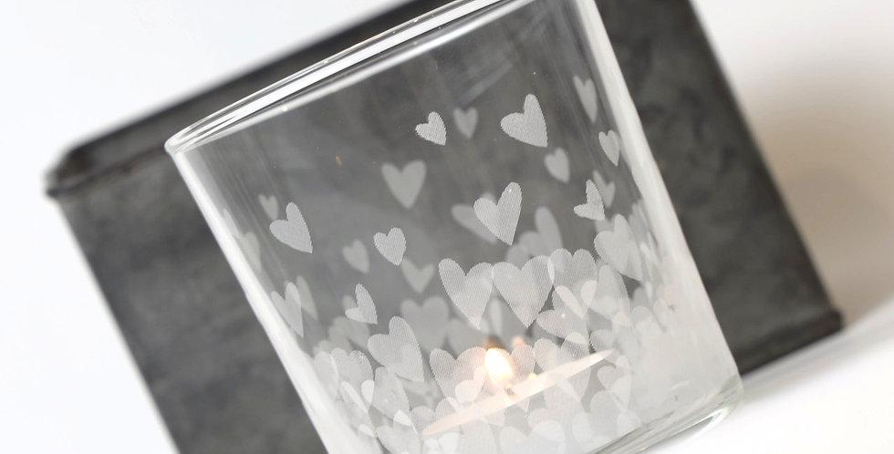 Trinkglas 'tausend Herzen'