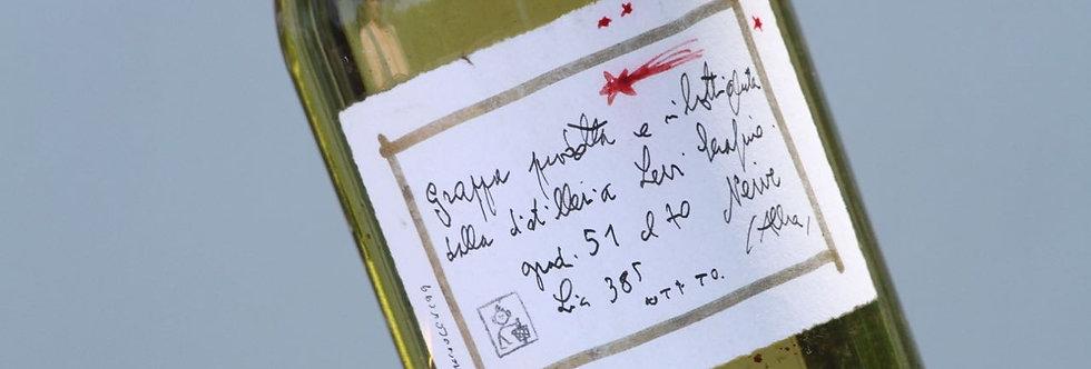 Weihnachtsflasche mit Sternschnuppe - Grappa Levi (1999)